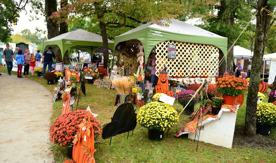 Image - Mays Landing Merchants Association Fall Festival booths and displays